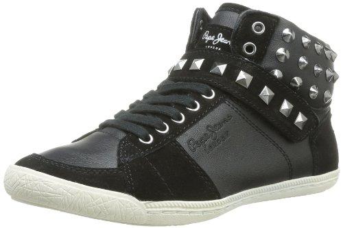Pepe Jeans London SPN-280 B 50410 999, Damen Sneaker, Schwarz (999 BLACK), EU 38