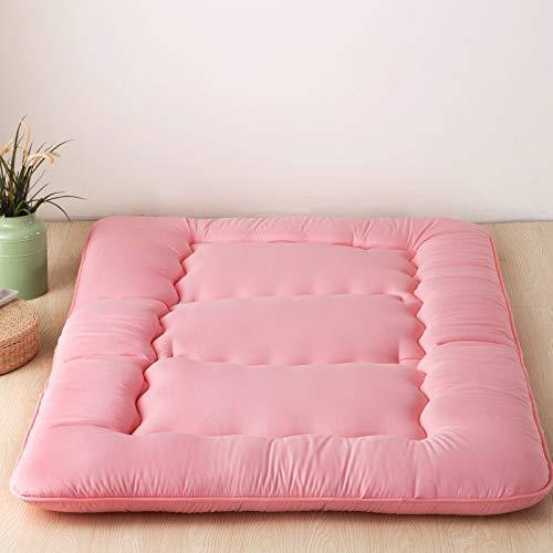 FF Japanse vloermatras Futon matras, tatami mat op Tatami Vouwkussen Meisjes matras Slaapzaal Matrasbed voor kinderen Bedbedden en banken, B: grijs, 180x220 cm
