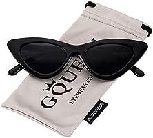 GQUEEN Occhiali da Sole da Donna Vintage a Gatto Protezione UV Occhiali da Sole Kurt Cobain,GQZ7