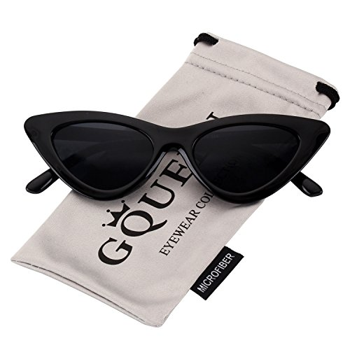 GQUEEN Gafas Vintage Clout Lentes de sol tipo ojo de gato Estilo a la moda y con protección UV lentes tipo Kurt Cobain,GQZ7