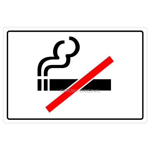 Ofform - Folio Signs Autocollant I Sticker Porte Fumer interdit I 130x90 mm I Lot de 5 I Nr.43701-5