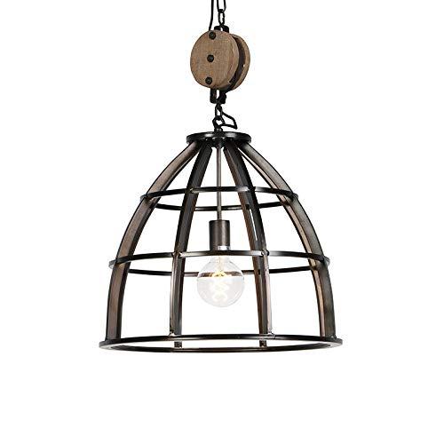 Qazqa Suspension | Lampe suspendue | Éclairage suspendu Industriel - Arthur Lampe Noir - E27 - Convient pour LED - 1 x 60 Watt
