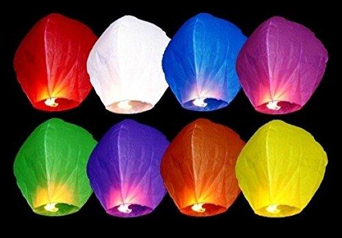 P&D Lot de 10 lanternes colorées, multicolore