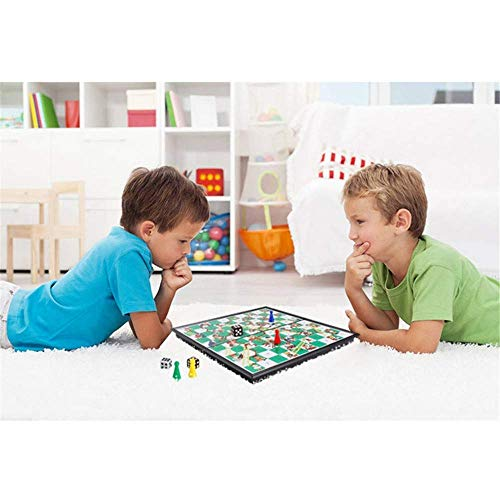 JHSHENGSHI Foldable Magnetic Board Snake Ladders Chess Game Interactive Desktop Party Toy Interactive Party Games Christmas Board Games