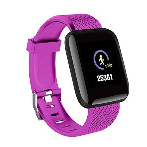 Dpatleten Sport Smart Watch Waterdicht Armband Hartslaghorloge Fitness Tracker Paars