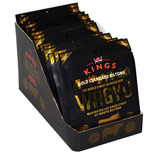 Kings Indulgent Range Gold Standard Wagyu Beef Biltong Box of 16 x 25g