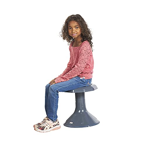 ECR4Kids ACE Active Core Engagement Wobble Stool for Kids, Flexible Classroom & Home Seating, Kids' Chair, Flexible Seating, Wiggle Chairs, 360 Degree Movement, 15-inch Seat Height, Grey