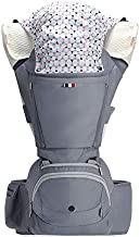 Bebamour Baby Carrier with Hip Seat for All Seasons, 6 in 1 Comfortable & Safe for Infant & Toddlers,Ergonomic Baby Backpack Carrier for (Grey)