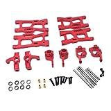 freneci Actualizaciones Kit de Repuestos Apto para WLtoys 144001 124019 124018 RC Car Accs - Rojo