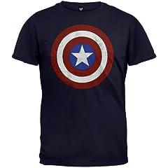 Marvel Capitán América Camiseta para hombre de los 80 Capitán América azul