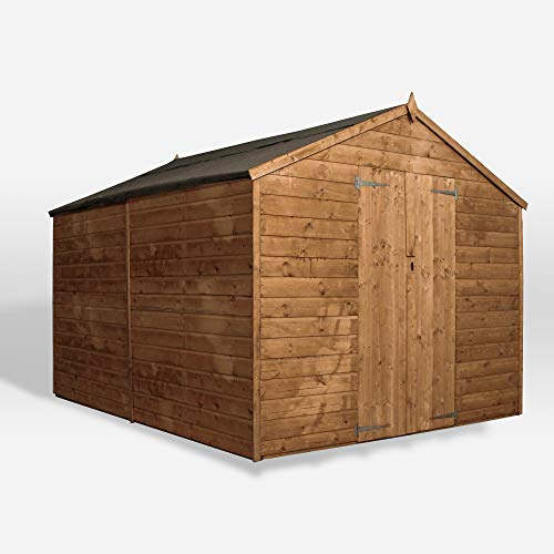 WALTONS EST. 1878 Wooden Garden Shed 10x8 Outdoor Storage Building Shiplap Apex Roof 10ft 8ft