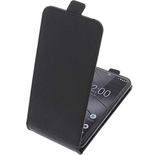 foto-kontor Tasche für Gigaset GS190 Smartphone Flipstyle Schutz Hülle schwarz
