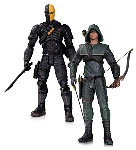 DC Collectibles Arrow Oliver Queen and Deathstroke Action Figure,...