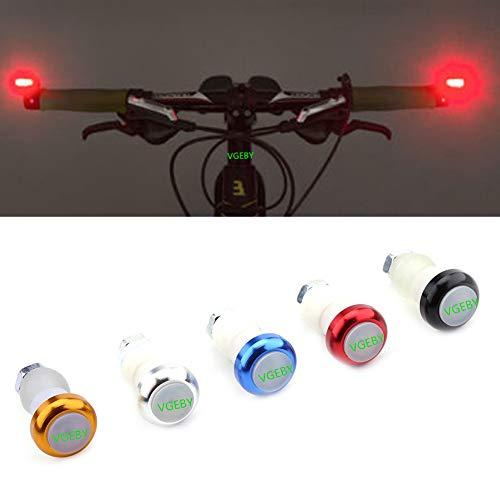 2PcsDirezione Grips in Lega di Alluminio per Bicicletta Manopola Lampada di Segnale di Avvertimento di Sicurezza (Colore : Nero) manopole luci lampade led da posteriore per biciclette