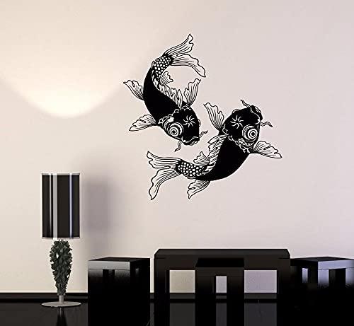 Nuoto Cinese Carpa Koi Pesce Pesce Rosso Animale Coppia Amore Vinile Wall Sticker Car Decal Camera Da Letto Soggiorno Ufficio Studio Club Home Decor Mural Club