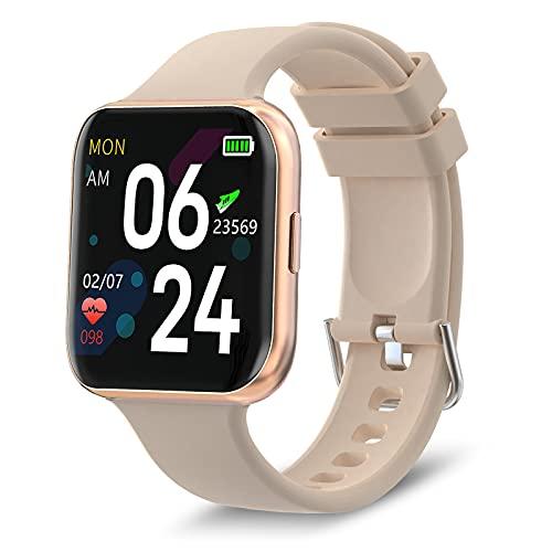 Bebinca Smartwatch Health & Fitness Tracker con oxígeno en Sangre 24/7 Frecuencia cardíaca IP68 a Prueba de Agua para iOS Android 1.4'Popglory Display Smartwatch Mujer