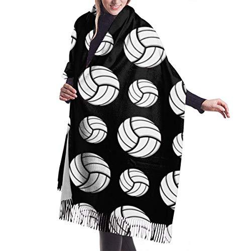 Patrón de deporte de voleibol Mujeres Niñas Bufandas ligeras Invierno Pashmina Wrap Chal