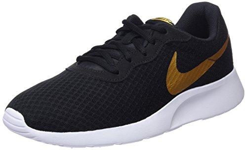 Nike Damen WMNS Tanjun Turnschuhe, Schwarz (Black/Metallic Gold 004), 42 EU