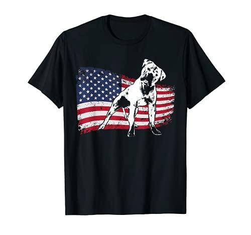 American Bulldog T-Shirt Fun Dog Shirt for Women, Men