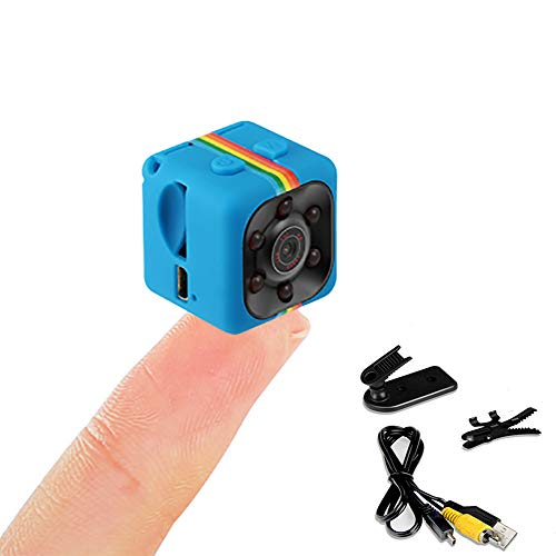Full HD 960P Mini Hidden Spy Camera, Small Wireless Tiny with Night Vision and Motion Detection Security Camera for Home Office Sports Outdoor