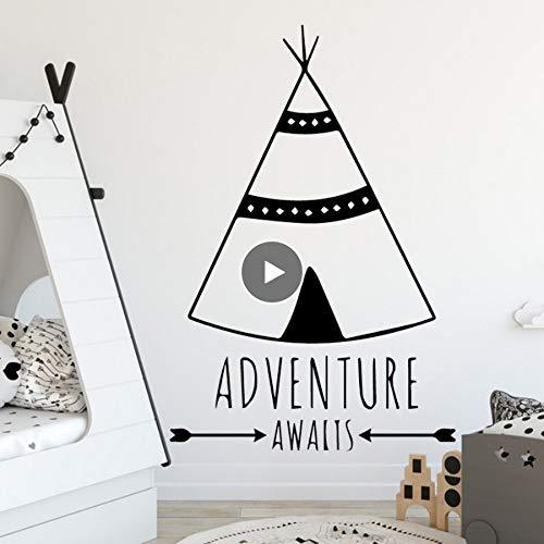 Zlxzlx Custom stam Tent Home Decoraties PVC Decal voor Kinderen Kamer Decoratie Accessoires Muren 56 * 86Cm