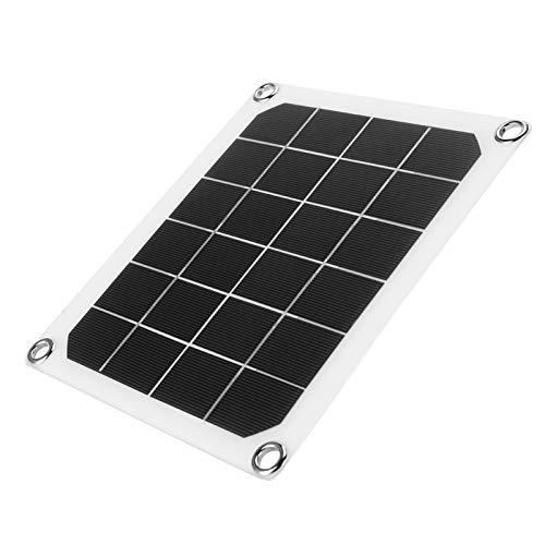 HAOX Ventilador de Escape Solar, Ventilador de Escape de silicio monocristalino, Ventilador de Escape a Prueba de Agua, Panel Solar USB de 6V 10W para Invernadero de gallinero