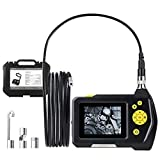 Digital Inspection Camera with 0.21inch Lens, 2.7inch Color Screen, 9.84ft Semi-Rigid Tube, 4X Zoom Industrial Endoscope, 2600mAh Lithium-Ion Battery Borescope+Tool Box