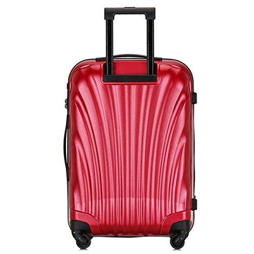 fosa1 Hand Luggage Trolley case PC Convenient Trolley Case, Shell Creative Suitcase, Wheel Travel Rolling Boarding, 20' 24' Inches (Color : Red, Size : 20inch)