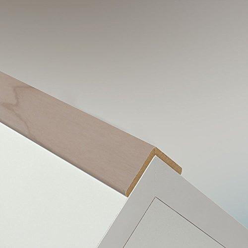 Winkelleiste Schutzwinkel Winkelprofil Tapeten-Eckleiste Abschlussleiste Abdeckleiste aus MDF in Alaska Birke 2600 x 32 x 32 mm