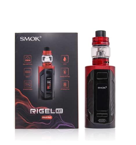 SMOK RIGEL Pod Vape Kit 230W 6.5ML TFV9 TFV9 Serbatoio Dual V9 Bobine lavorate a maglia 0.15Ω Bobina di sigaretta elettronica