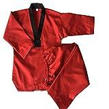GWBI Abito da Judo Rosso Uniforme da Judo, Tute da Judo per Bambini, Kimono Adulto da Judo, Tute da Allenamento Rosse per Judo, Uniforme KOKATEHIN Karate Giappone, Uniforme KYOKUSHINKAI-Red-XXXL