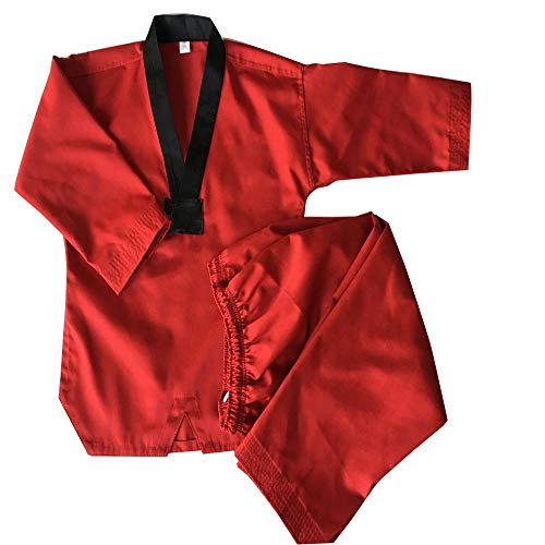 GWBI Abito da Judo Rosso Uniforme da Judo, Tute da Judo per Bambini, Kimono Adulto da Judo, Tute da Allenamento Rosse per Judo, Uniforme KOKATEHIN Karate Giappone, Uniforme KYOKUSHINKAI-Red-XXS