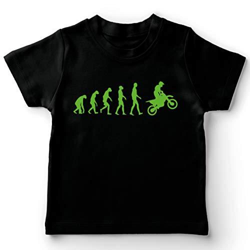lepni.me Maglietta per Bambini/Ragazzi Evoluzione del Motocross Equipaggiamento per Moto da Bicicletta Sporca Abbigliamento da Corsa (12-13 Years Nero Verde)
