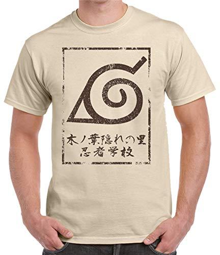 Camiseta de Hombre Naruto Manga Anime Shuriken Sasuke Kakashi 002 XL