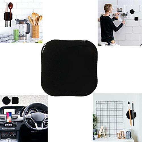 Hete-supply Nano-Rubber Gel, Sticky Gel Pads, Mobiele Telefoon Stand Houder, Universele Mobiele Telefoon Stickers Met Lijm Voor Alle Magnetische Auto, Zwart Blacksquare