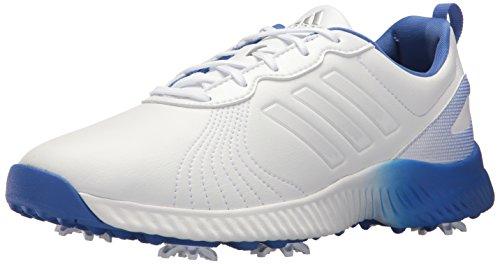 adidas Women's W Response Bounce Golf Shoe, FTWR White/FTWR White/hi-res Blue, 7.5 Medium US