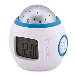 Alarm Clock - Colorful Star Children Room Night Light Projector Lamp Alarm Clock Sleeping Music - Pink Fashioned Japan Kit Jam Ipod Diffuser Analog Xrexs Xtreme