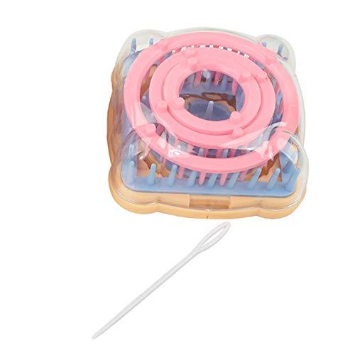 Telar de flores, kit de herramientas de tejer de flores, máquina de tejer de bricolaje, herramientas de costura de aguja de color para Hobby Loom Maker Yarn Needle Knit Tool