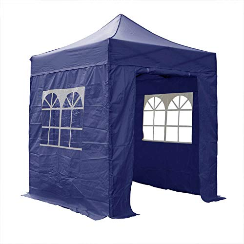 AIRWAVE Gazebo Four Seasons Essential Pop Up with Sides Waterproof 2 x 2m (Blue)