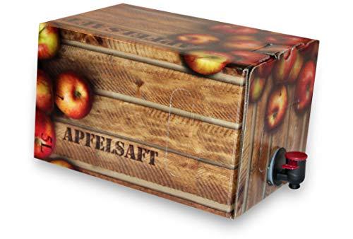 Apfelsaft naturtrüb | 100% Direktsaft ohne Konservierungs- und Aromastoffe | 2er Pack (2 x 5 Liter, Bag in Box mit Zapfhahn)