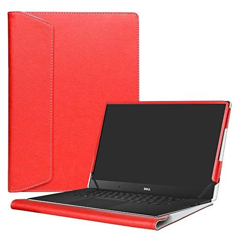 Alapmk Specialmente Progettato PU Custodia Protettiva in Pelle Per 15.6  Dell XPS 15 9570 9560 9550 XPS 15 2 in 1 9575 Notebook,Rosso