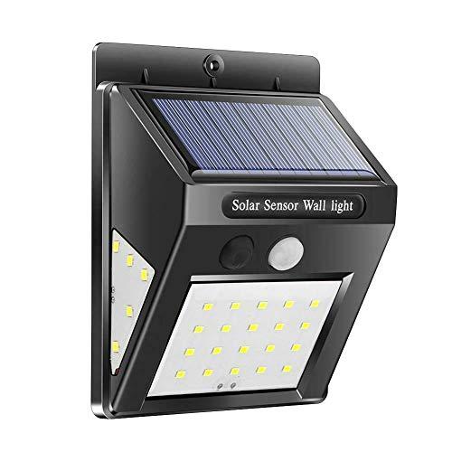 Fxhan 40 LEDs Solar wandlamp driezijdige verlichting tuin bewegingsmelder lamp
