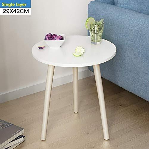 DGDHSIKG Couchtisch Couchtisch Nachttisch Büro Couchtisch Holz runder Zeitungsständer Kleiner Tisch, 29x42cm weiß