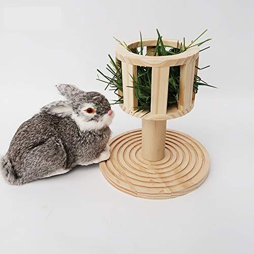 Waza Houten voederstation voor heno-voederstation voor konijnen, cavia's, chinchillas huisdieren, kleine dieren, 23 x 22 cm