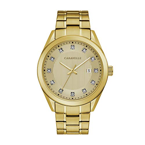 Caravelle by Bulova Gold Tone Dress Watch (Model: 44B125)