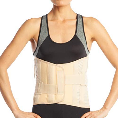 Menor tamaño - Parte inferior de la espalda Lumbar - zona Lumbar Apoyo Lumbar Espalda Cinturón de apoyo Brace - LumboSacral - 32 cm (S2, beige)