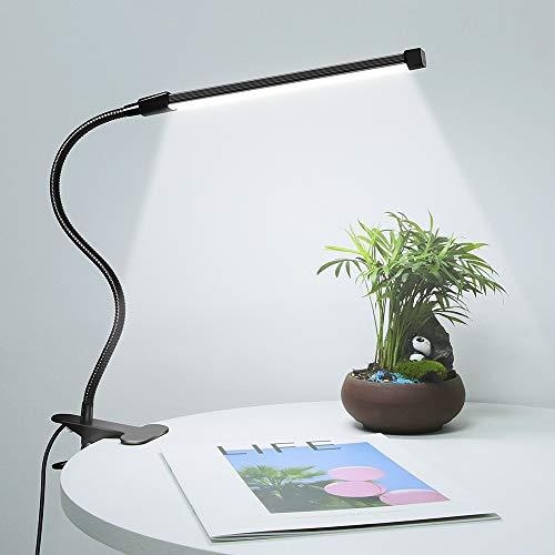 HHZR01 led デスクライトクリップ usb 700lm 360度 3色調色 電球色 昼白色 昼光色 10段階調光 おしゃれ クリップスタンド 目に優しい電気スタンド クリップライト スタンドライト 読書灯