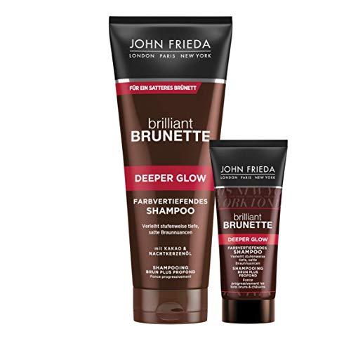 John Frieda Brilliant Brunette Deeper Glow - Farbvertiefendes Braun-Shampoo, 300 ml