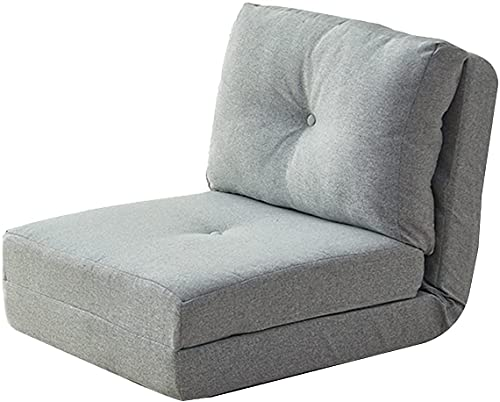 Chilequano Sillón de salón de sofá Perezoso con sofá Perezoso del Asiento del Piso del Respaldo Ajustable, Silla de meditación Lavable Plegable para la Sala de Estar Dormitorio (Color : Light Gray)