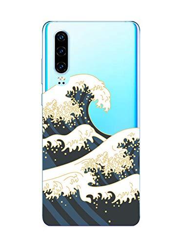 Suhctup Case Compatible con OnePlus 5T Funda Silicona Transparente Dibujos Diseño TPU Bumper Crystal Ultra Slim Antigolpes Protection Cárcasa Cover para OnePlus 5T,Flor 9